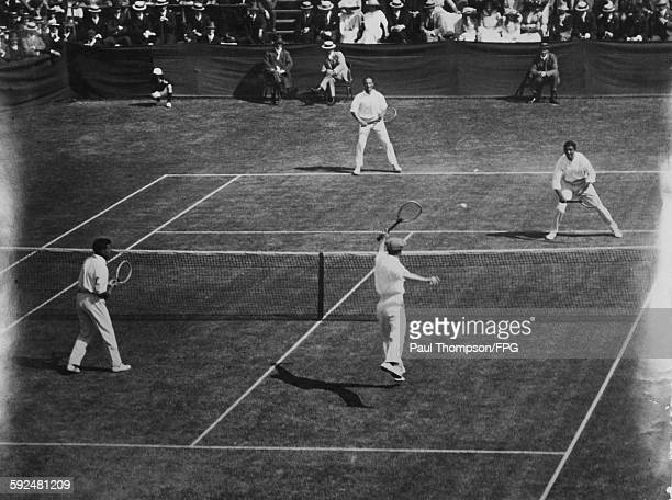 The British Isles versus Australasia in the International Lawn Tennis Challenge finals at the Albert Ground in Melbourne Australia 30th November 1912...