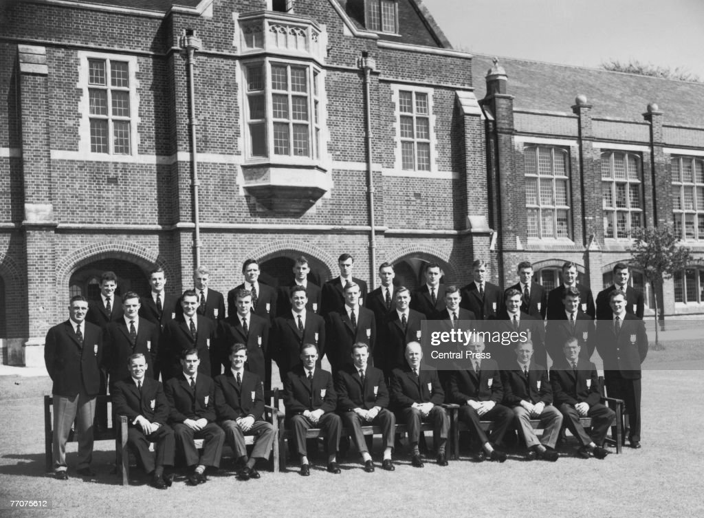 The British Lions rugby team before their summer tour of Australia and New Zealand May 1959 Back row left to right Bev Risman JR Young Ken Scotland A...