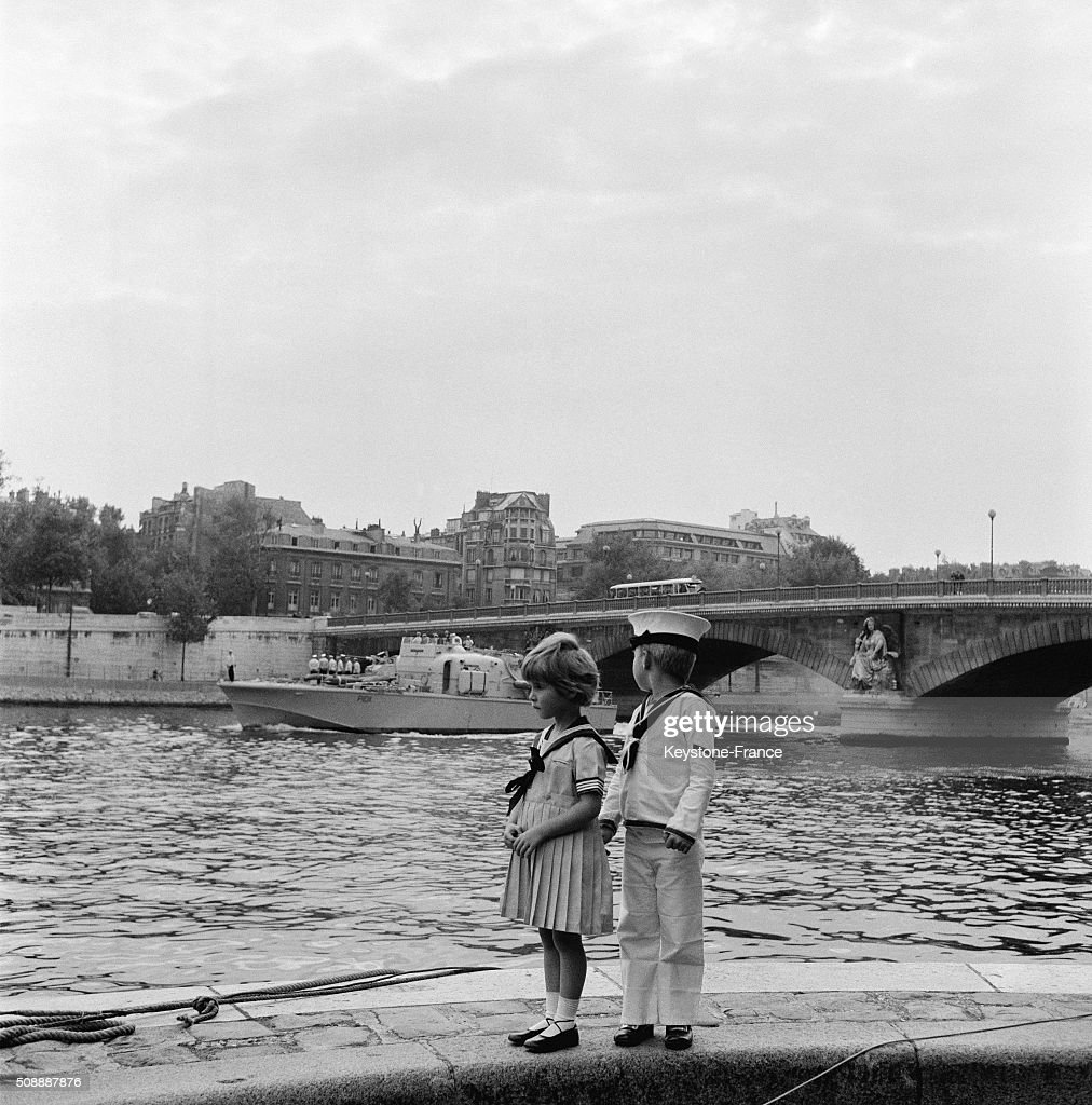 The British Patrol Boats Brave Swordsmen Brave Borderer And Squirrel On The River Seine For the Presentation To Parisian People in Paris France on...