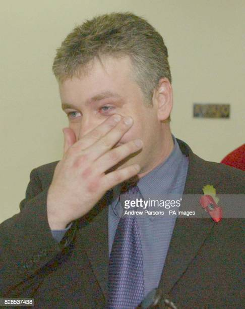 The British Plane Spotters Graham Arnold wipes away a tear after hearing the appeal result in Kalamata Court Greece as they win their appeal against...
