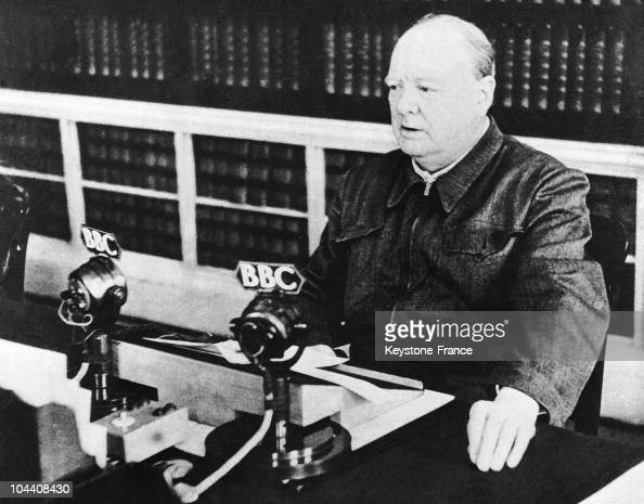 The British Prime Minister Winston CHURCHILL gave the speech he just delievered at the House of Commons 'I have nothing to offer but blood toil tears...