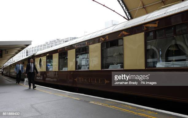 The British Pullman sister train to the Venice SimplonOrientExpress at London Victoria Station