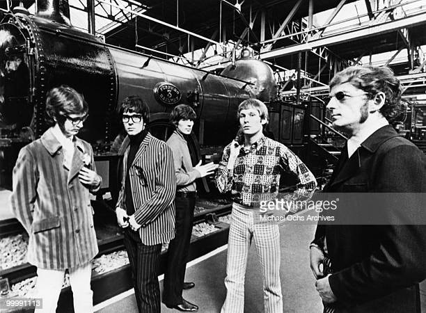 The British Rock and Roll group Manfred Mann pose for a portrait circa 1966 in London England