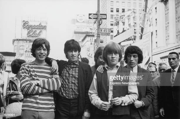 The British rock group The Rolling Stones in New York Left to right Mick Jagger Keith Richards Charlie Watts Brian Jones and Bill Wyman Original...