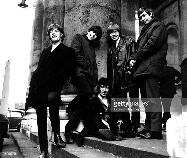 The British rock group The Rolling Stones outside St George's church Hanover Square London Original Publication People Disc HW0626