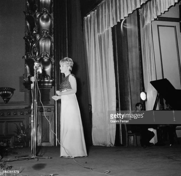 The British singer Petula Clark during a concert Madrid Castilla La Mancha Spain