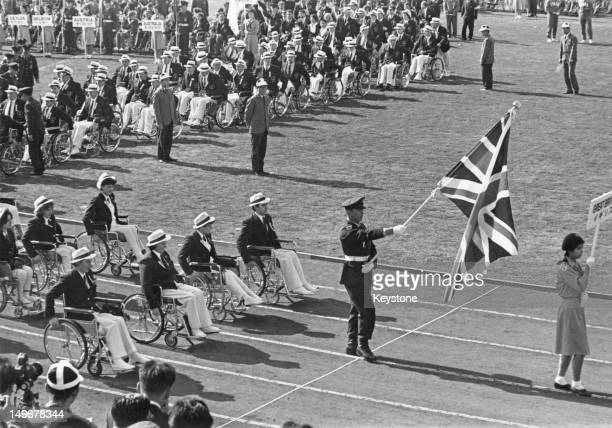 The British team at the opening ceremony of the Summer Paralympic Games in Tokyo 3rd November 1964