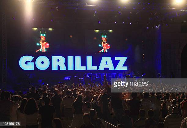 ISSA The British virtual band Gorillaz performs at the Damascus Citadel the 11th Century fortified palace situated in the ancient city of Damascus on...
