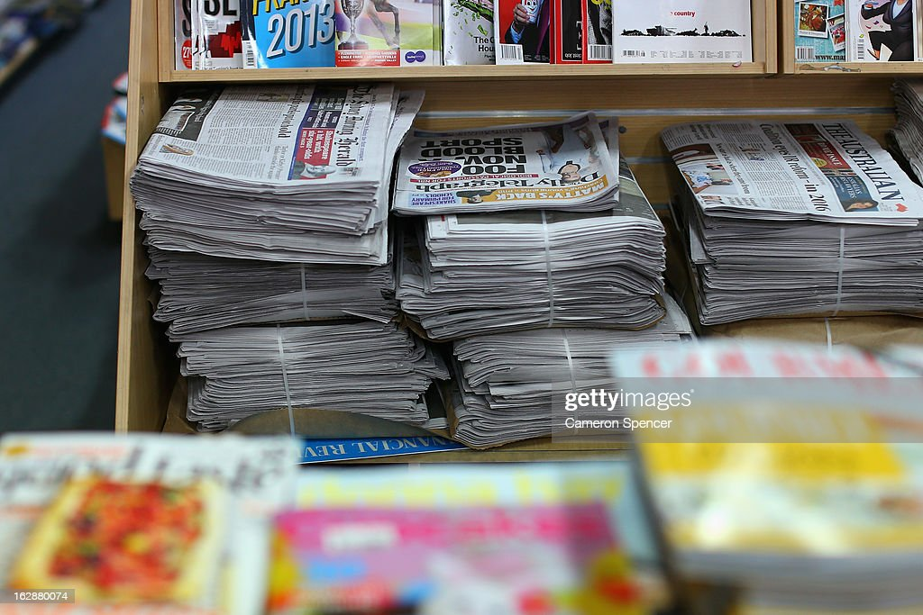 The broadsheet format 'Sydney Morning Herald' newspaper is seen on display at a newsagency on March 1, 2013 in Sydney, Australia. After 180 years, the Monday to Friday editions of the Fairfax Media publications, The Sydney Morning Herald and The Melbourne Age will switch from broadsheet sized newspapers to compacts or tabloid sized newspapers on March 4, 2013.