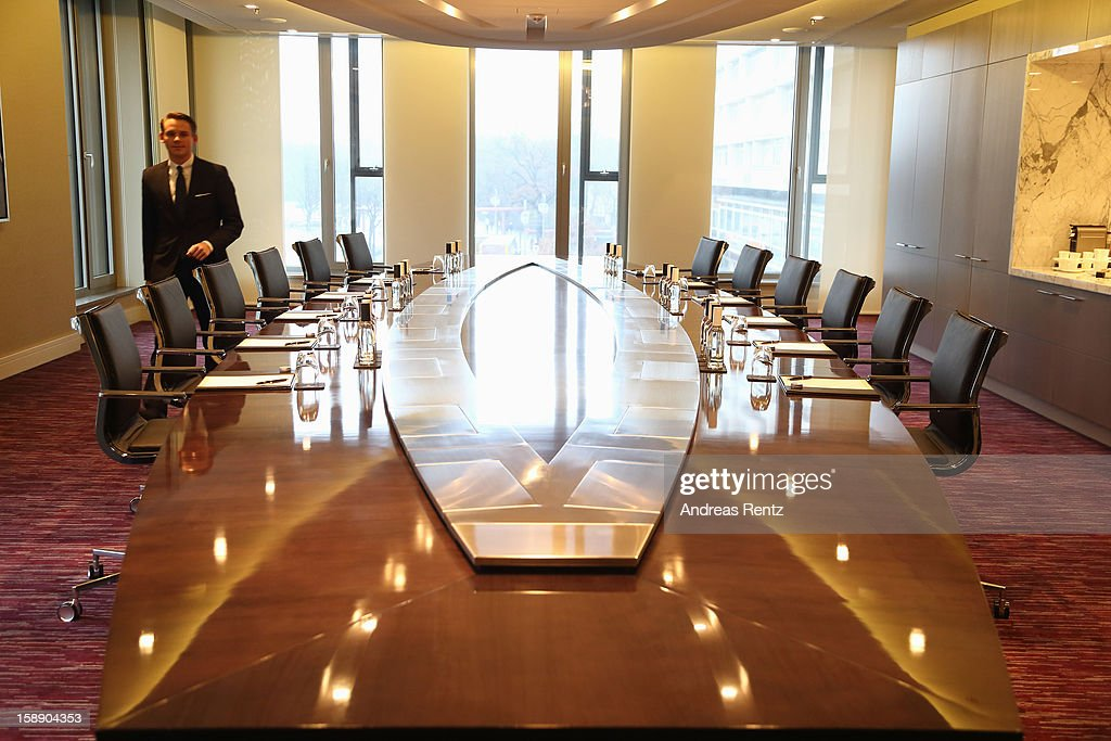 The Broadway Boardroom of the Presidential suite is pictured during the opening of Germany's first Waldorf Astoria hotel on January 3, 2013 in Berlin, Germany. The luxury Waldorf Astoria Berlin with its 232 luxury guest rooms and suites on 32 storeys is located near the Kaiser Wilhelm Memorial Church (Kaiser-Wilhelm-Gedächtniskirche).