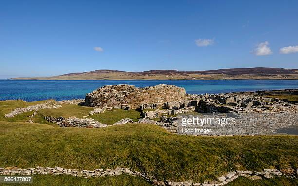 The Broch of Gurness on Orkney Islands