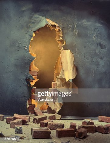 The broken wall