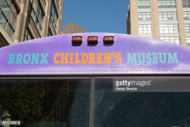 The Bronx Children's Museum bus is outside the The Bronx Children's Museum Gala at Tribeca Rooftop on May 2 2017 in New York City