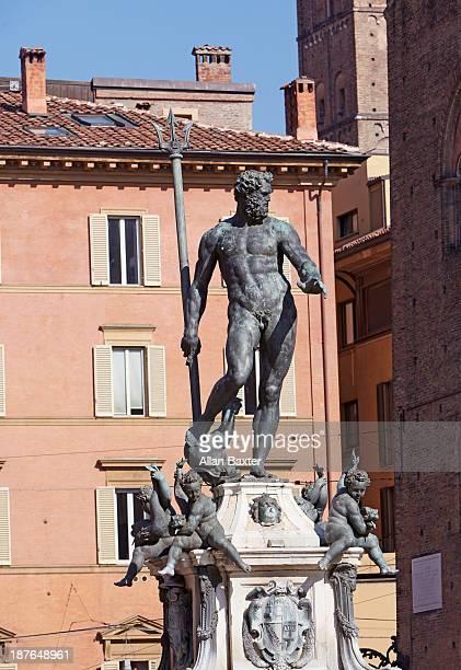 The bronze 'Fountain of Neptune' in Bologna