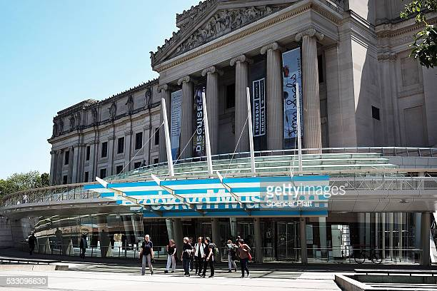 The Brooklyn Museum one of New York's oldest and most renown cultural institutions stands in central Brooklyn on May 20 2016 in New York City The...