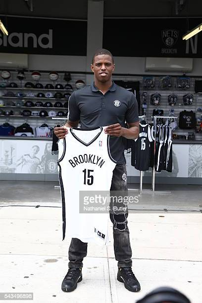 The Brooklyn Nets 2016 Draft Pick Isaiah Whitehead is introduced during the press conference on June 28 2016 at Coney Island in Brooklyn NY NOTE TO...