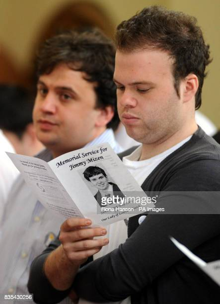 The brother of murdered schoolboy Jimmy Mizen during a memorial service to mark the first anniversary of Jimmy's death held at the Our Lady of...