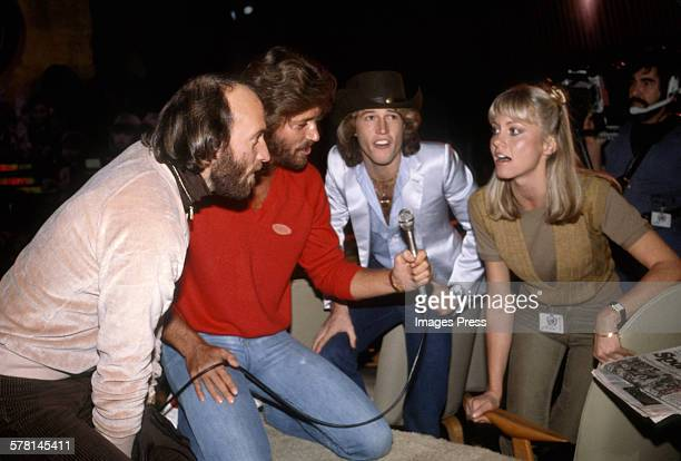 The Brothers Gibb of the Bee Gees and Olivia NewtonJohn circa 1979 in New York City