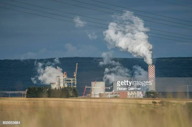 The brown coal power station near the polish town Bogatynia is pictured on August 12 2017 in Oberseifersdorf Germany