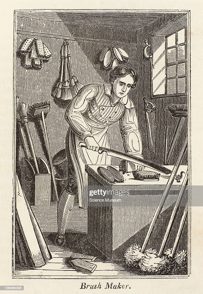 The brushmaker makes brushes hair and carpet brooms and mops of all sorts he is generally the manufacturer of wooden coalhoods and of measures for...