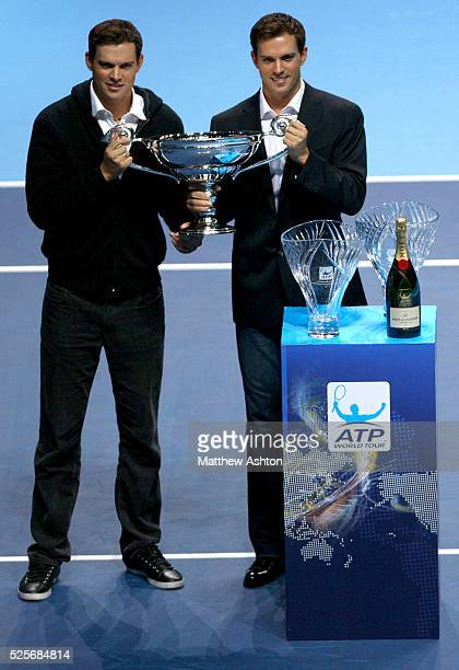 The Bryan Brothers receive their World Tour No1 doubles team award