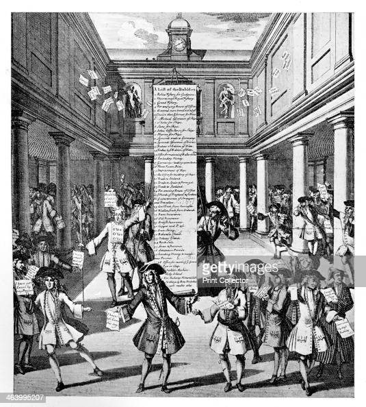 'The Bubbler's Bubbl'd or The Devil Take the Hindmost' 1720 Shares in the South Sea Company rose through overheated speculation causing the South Sea...