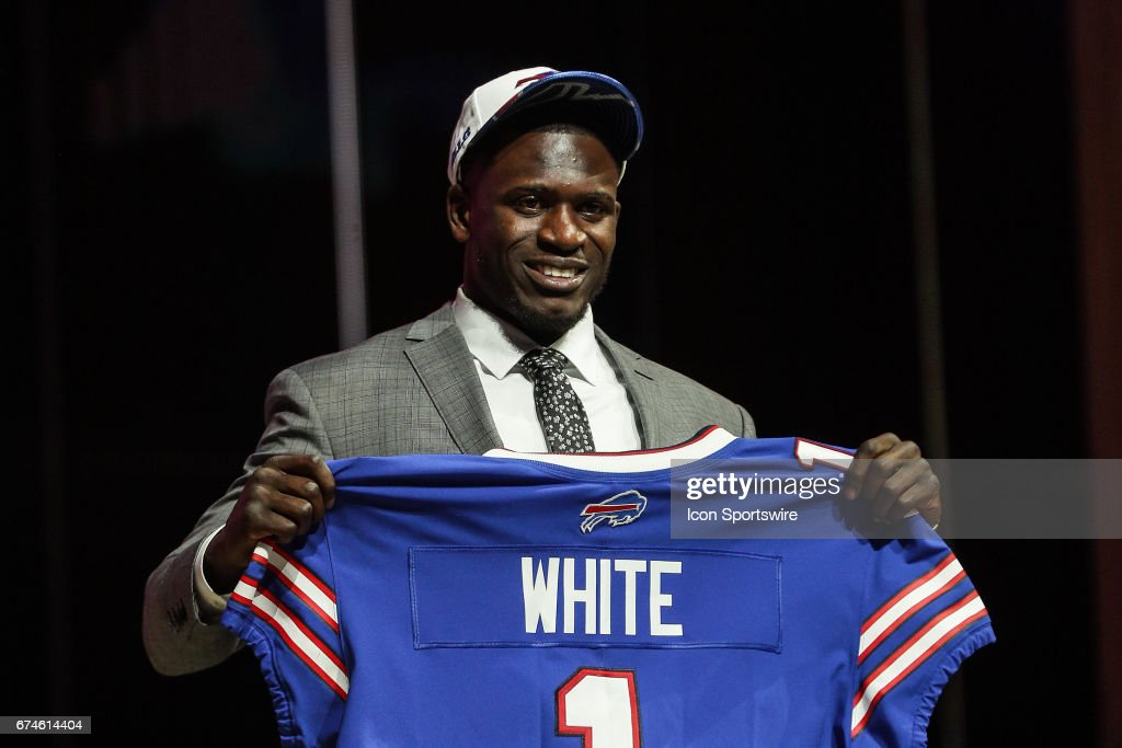 The Buffalo Bills select TreDavious White from LSU with the 27th pick at the 2017 NFL Draft at the NFL Draft Theater on April 27, 2017 in Philadelphia, PA.