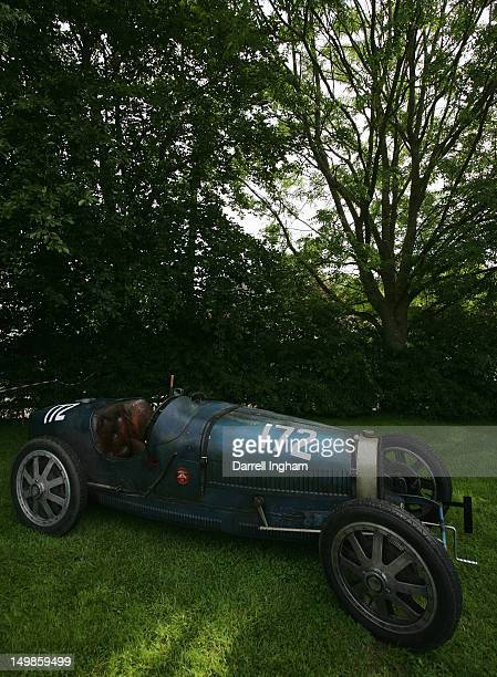 The Bugatti Type 35 of Luc Slijpen during the Vintage Sports Car Club Prescott Hill Speed Climb at the Prescott Hill on August 5 2012 near Cheltenham...
