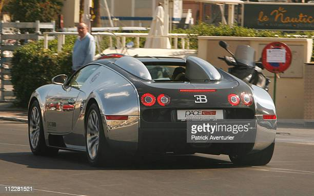 The Bugatti Veyron Pur Sang is demonstrated during the Top Marques Monaco show at the Grimaldi Forum on April 16 2001 in Monaco The Top Marques...