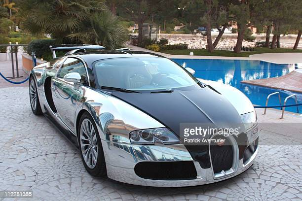 The Bugatti Veyron Pur Sang is displayed during the Top Marques Monaco show at the Grimaldi Forumhe on April 16 2001 in Monaco The Top Marques Monaco...