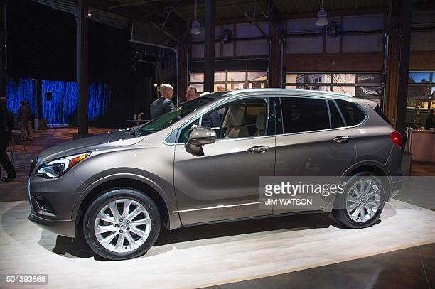 The Buick Envision on display during the Buick reveal event ahead of the North American International Auto Show in Detroit Michigan January 10 2016...