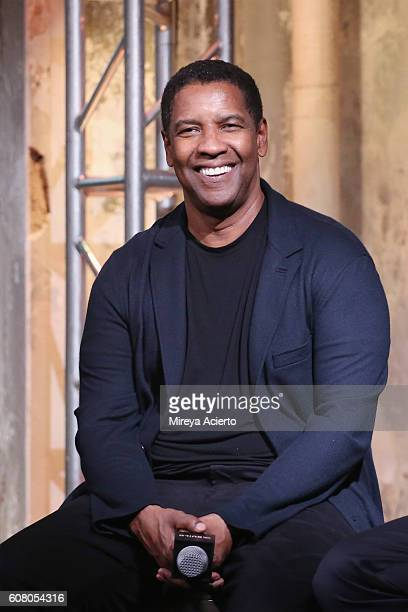 The BUILD Series presents actor Denzel Washington to discuss 'The Magnificent Seven' at AOL HQ on September 19 2016 in New York City