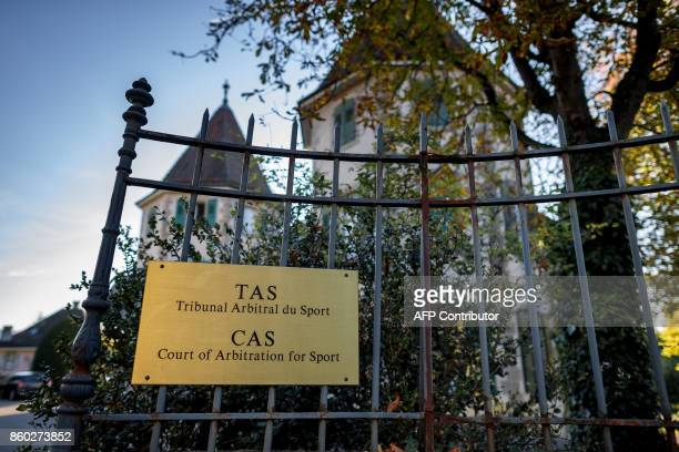 The building hosting the Court of Arbitration for Sport is seen on October 11 2017 in Lausanne FIFA's former secretary general Jerome Valcke was at...