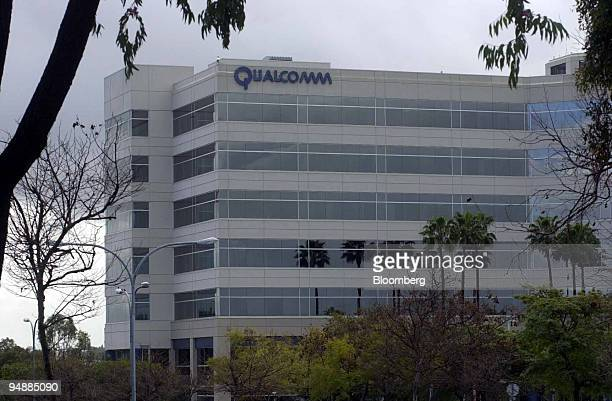 The building housing the corporate headquarters of Qualcomm Inc the world's No 2 maker of microchips that power mobile telephones is pictued in San...