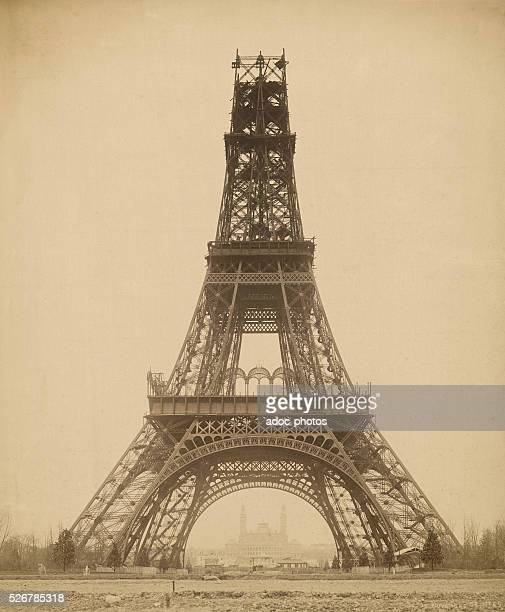 The building of the Eiffel tower in Paris On November 23 1888