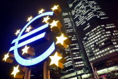 The building of the European Central Bank and a Eurosculpture are seen in the western town of Frankfurt/Main 12 January 2005 The ECB's decisionmaking...