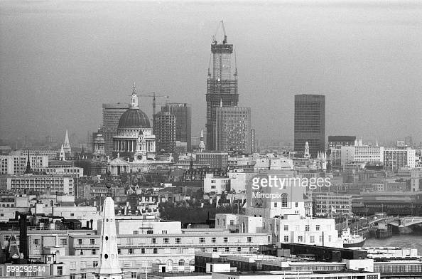 The building was later renamed Tower 42 Also in the picture is St Paul's Cathedral 28th February 1977