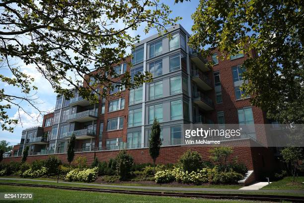 The building where former Trump campaign manager Paul Manafort has a residence is shown August 10 2017 in Alexandria Virginia Manafort's residence...