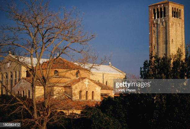 The buildings and central square of Torcello.