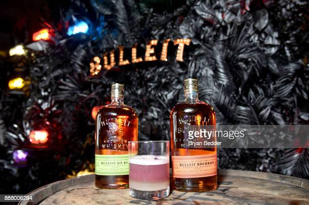 The Bulleit Viola Sour inspired by the 2018 Pantone Color of the Year served at Saatchi Art's 'A Celebration of Art Color' at Eden Roc Miami Beach on...