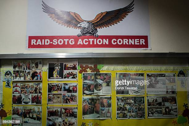 The bulletin board of the Special Operations Task Group the main unit tasked to conduct anti drug operations is adorned with pictures on August 13...
