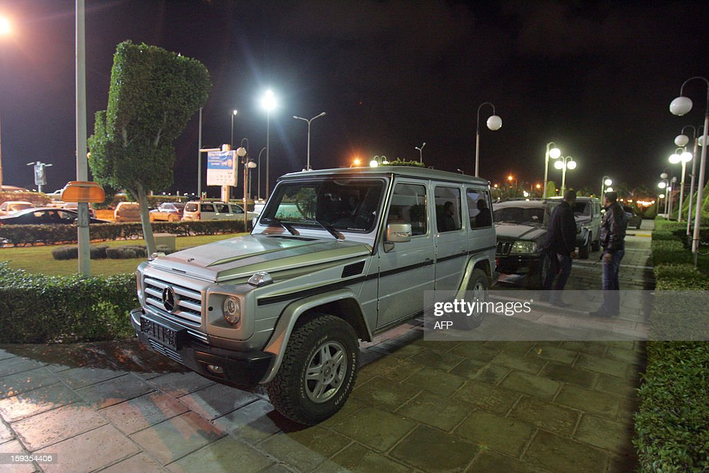 The bullet-proof vehicle in which Italy's consul to Benghazi was riding in, after it was shot at, in eastern Libya, on January 12, 2013. The vehicle, in which the consul Guido De Sanctis was travelling in, was shot at when it stopped at a crossroads, but no one was injured, the Italian news agency ANSA reported, quoting local security sources. The incident comes four months after US Ambassador Chris Stevens and three other Americans were killed in the city in an attack on the US mission there.