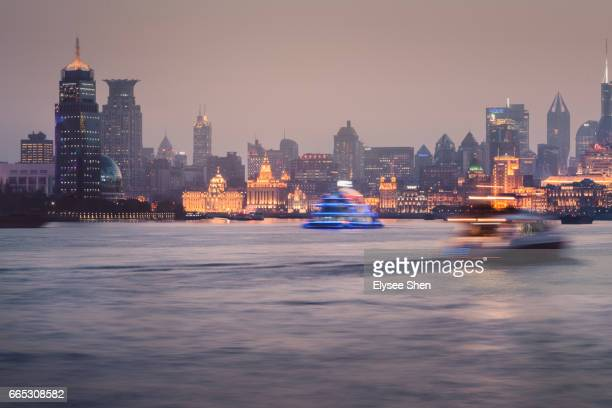 The bund of Shanghai with huangpu river
