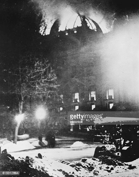 The burning of the Reichstag Building allowed German Chancellor Adolf Hitler to declare emergency powers and establish his Nazi dictatorship Although...