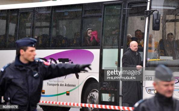 The bus carrying the victims' families of selfconfessed French serial killer Michel Fourniret a 65yearold carpenter arrested in 2003 after an attempt...