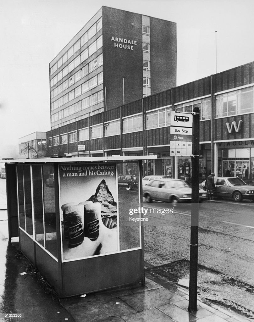 The bus stop outside the Arndale shopping centre in Leeds, where Jacqueline Hill, the 13th victim of Peter Sutcliffe, the 'Yorkshire Ripper' alighted before her murder on 17th November 1980.