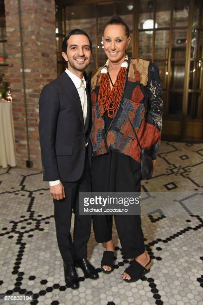 The Business of Fashion Founder CEO Imran Amed and designer Donna Karan attend cocktails hosted by The Business of Fashion to celebrate BoF's special...