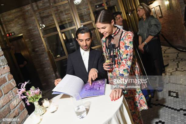 The Business of Fashion Founder CEO Imran Amed and Glossier Founder CEO Emily Weiss attend cocktails hosted by The Business of Fashion to celebrate...