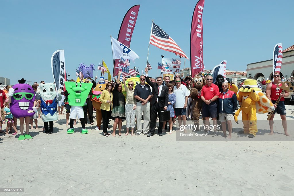 The Business Persons Group prepares to watch the Unlocking Of The Ocean and participate in The Business Persons Plunge on May 27, 2016 in Ocean City, New Jersey.