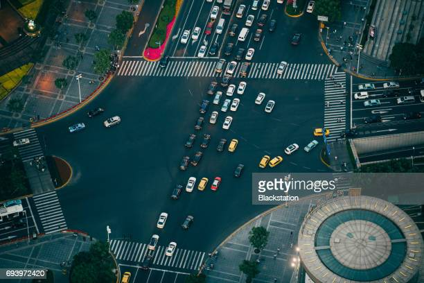 the busy road intersection